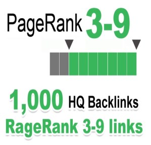1000 do-follow PR 3-9 backlinks