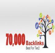70,000 backlinks untuk tier 2