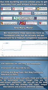 200 edu backlink manual create Big Universities + 9,000 Tier2 Links